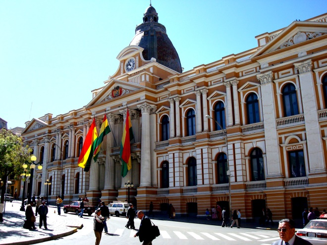 Government buildings in La Paz, Bolivia